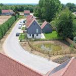 Affordable carbon zero eco-homes in construction in Abingdon