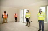 Topping out ceremony on Powys social housing development