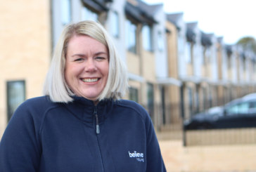 Jayne Adamson at believe housing receives MBE