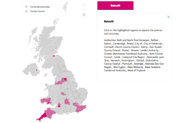 Interactive map shows local authorities leading the way on home retrofit