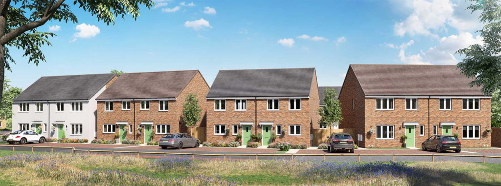 CGI of new homes in Bury St. Edmunds