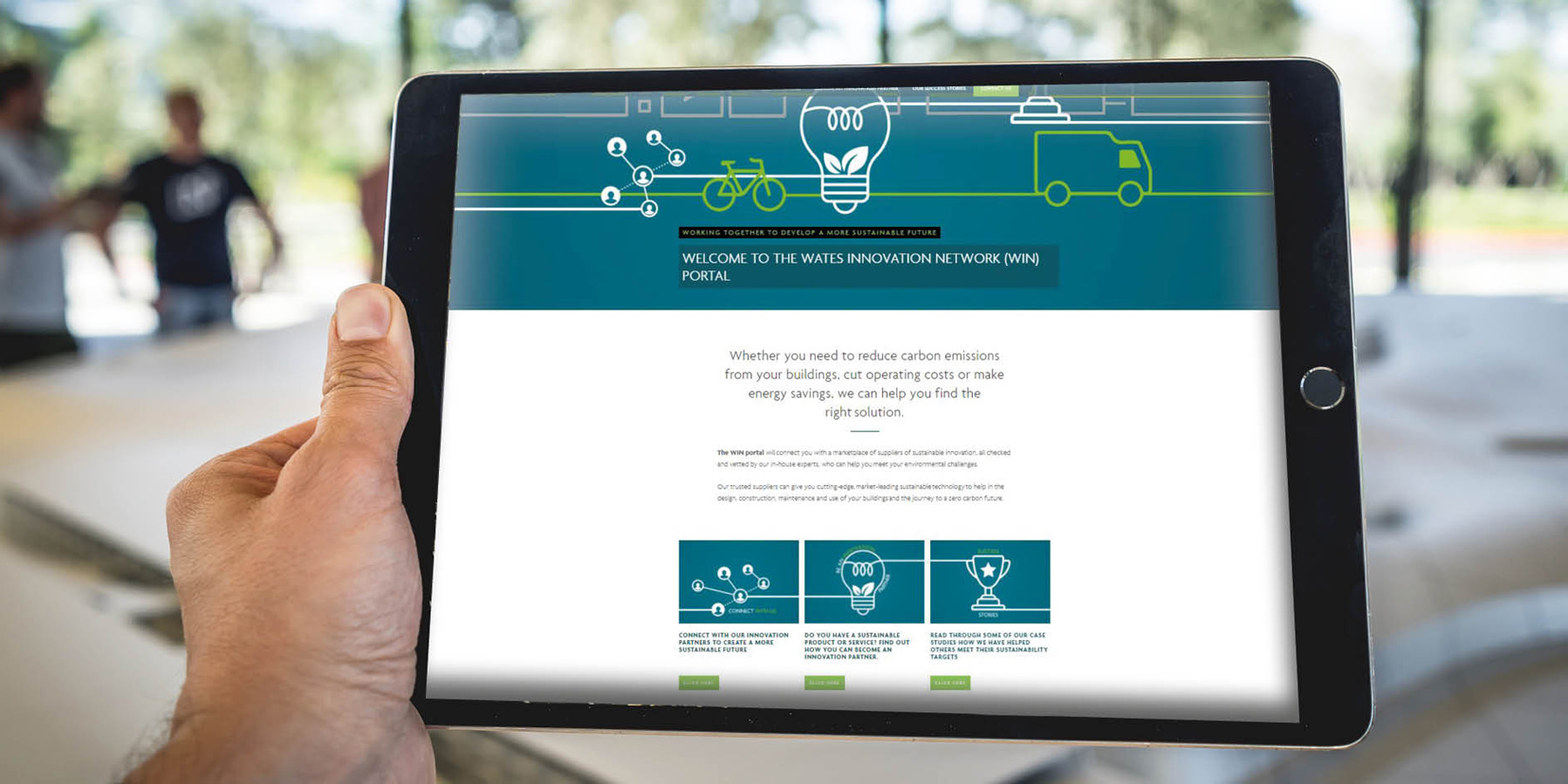 Wates launches online innovation portal to boost industry transition to net zero