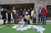 Children bury COVID-19 time capsule at Akeman Street