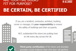 BWF Fire Door Alliance launches 'Be Certain, Be Certified' campaign