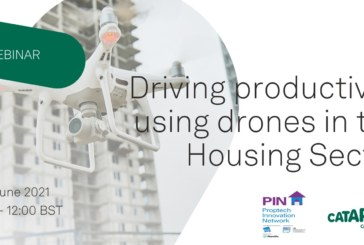How can drone technology improve asset management in housing?