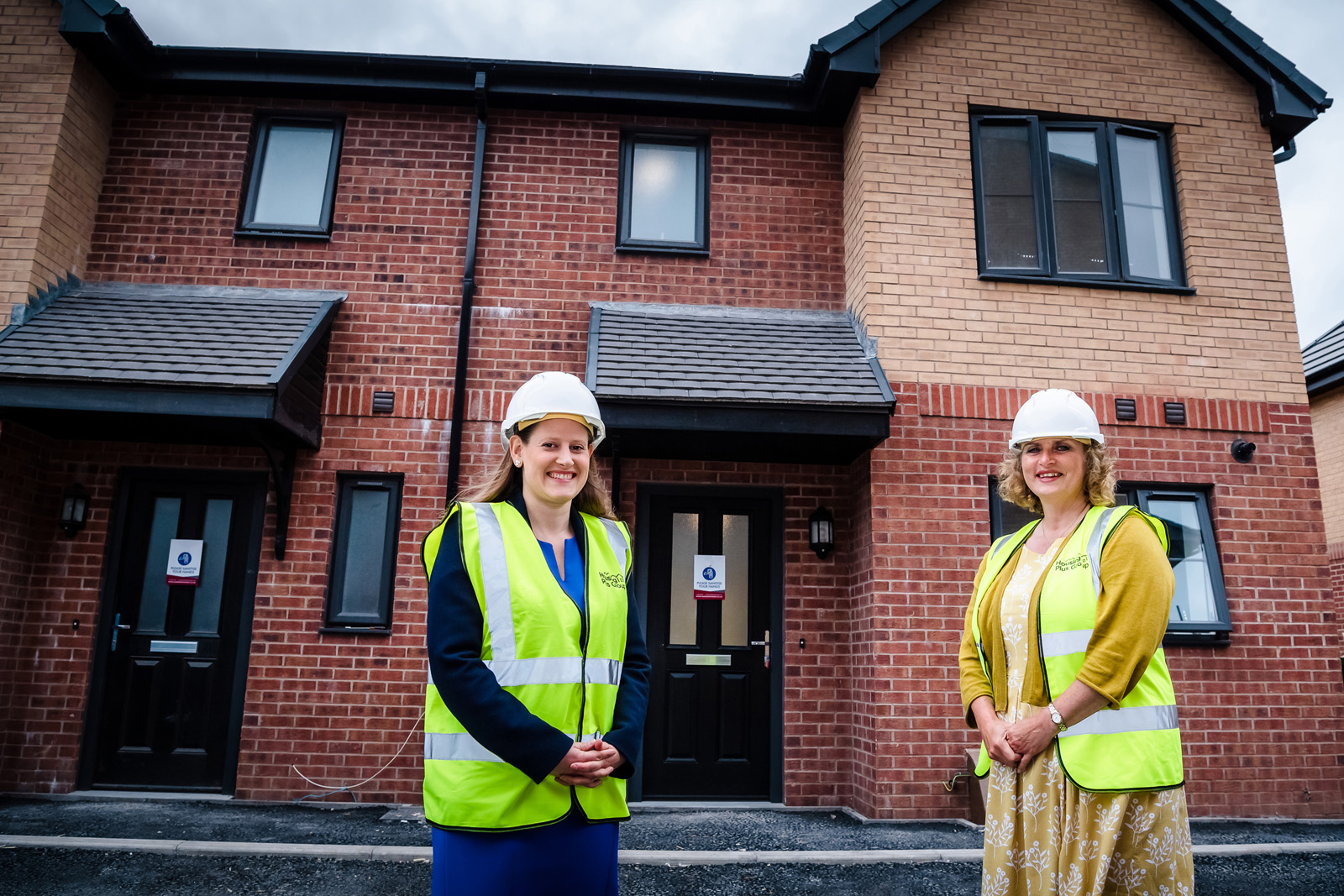 MP visits Housing Plus Group's new affordable homes in Stafford