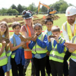 School children step back in time at archaeological dig