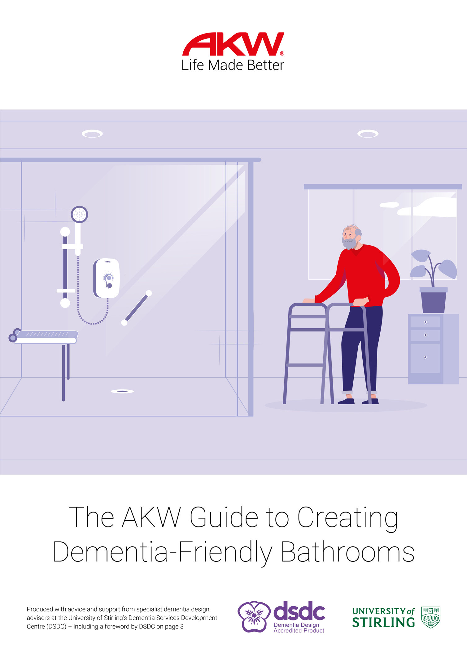 Specialist dementia bathroom design guide launched by AKW