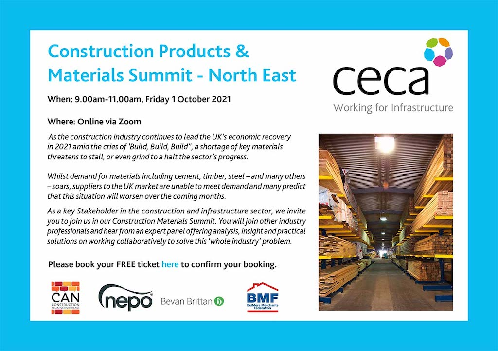 Construction businesses in North East urged to attend emergency materials shortages summit