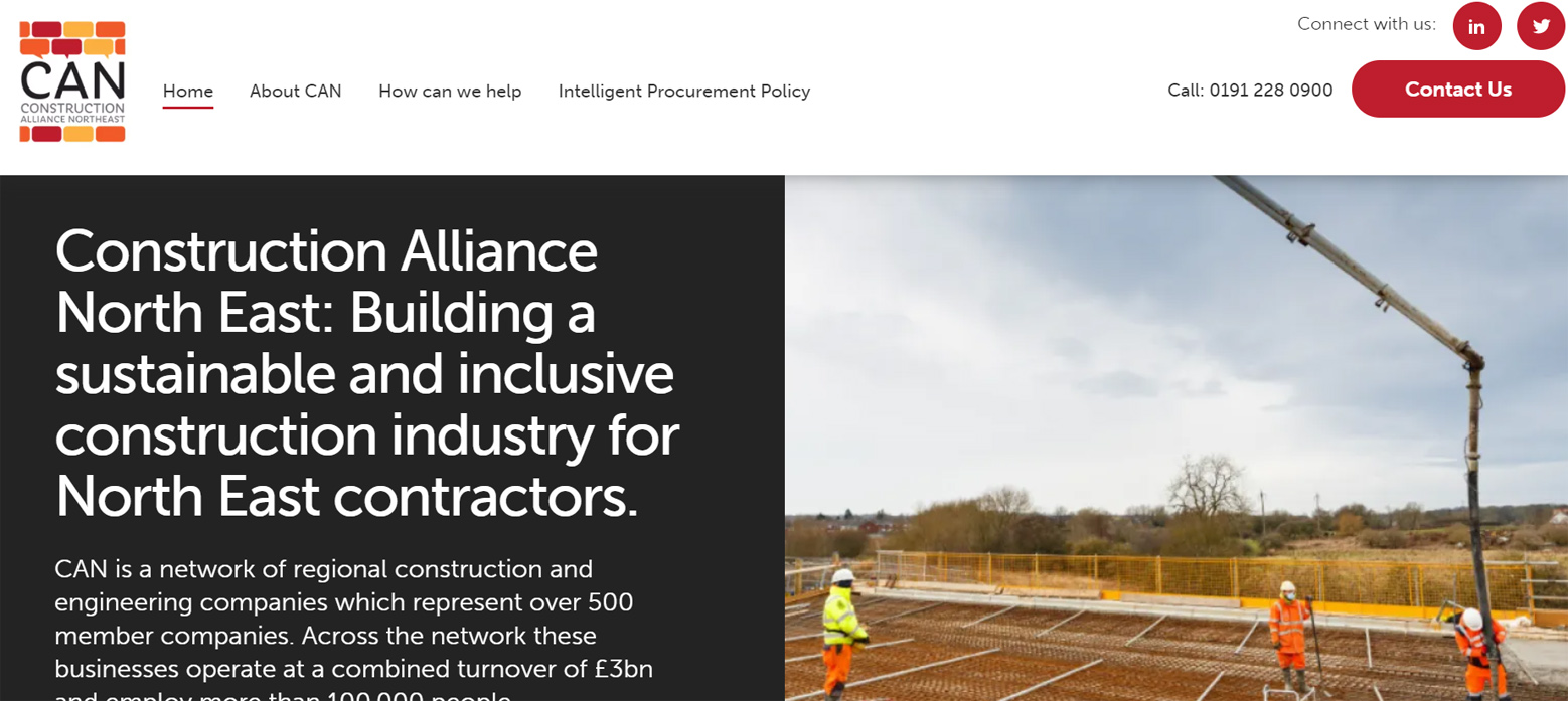 Construction Alliance North East leading industry's digital transformation as new website launches